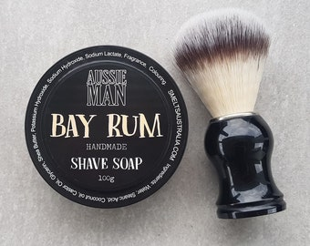BAY RUM Shave Soap, Extra Lather and Glide, Handmade, ONLY Pay Post on 1 Item