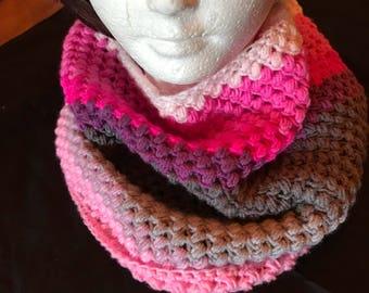 Spring Time Cowl  Crocheted Handmade