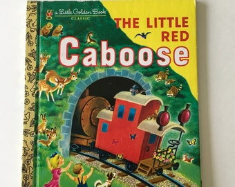 The Little Red Caboose A Little Golden Book / Vintage Children's Book Train Caboose 1981