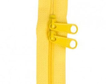 """40"""" Double Slide Handbag Zipper by Annie - Color DANDELION"""