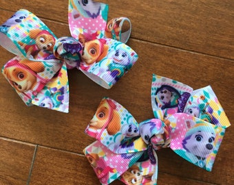 Paw Patrol Bow - Skye Everest Inspired Girl's Hair Bow, Paw Patrol Party, Paw Patrol Birthday, Paw Patrol Party Favor, Paw Patrol Loot bags
