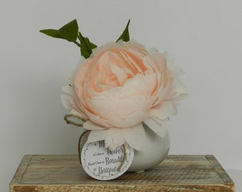 Mother's Day Gift - Fine Crepe Paper Peony Flower