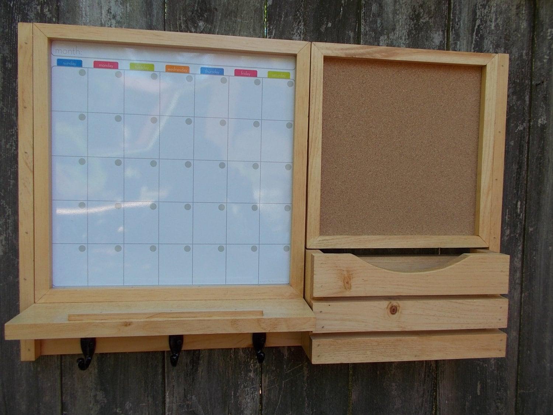 Dry Erase Magnetic Calender Message Center Corkboard