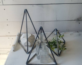 set of 3 metal triangles