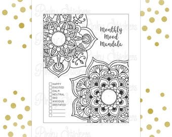 Monthly Mood Mandala | Printable | Fits Erin Condren and Happy Planner