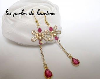 Golden Crystal Dragonfly earrings