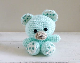 Tottles the Teddy Bear, Cute Stuffed Animals, Crochet Teddy Bear