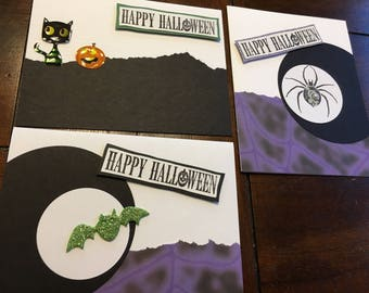 Halloween cards - set of 3