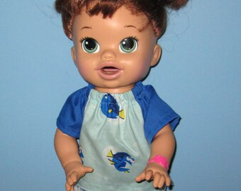 Snackin Sara, Baby Alive, Top and Short Set,   15 16 Inch Doll Clothes,Top and Shorts