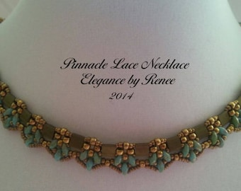 Pinnacle Lace Necklace Tutorial - Free Earrings Tutorial Included - 2 PDF Instant Download