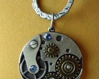 Steampunk Necklace,  Watch Parts , SALE