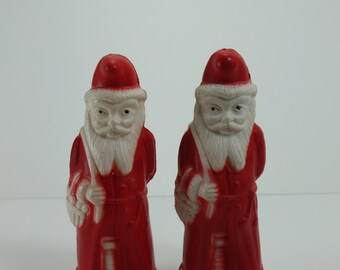 Vintage Celluloid Santa Claus St. Nick Kris Kringle Irwin Arm Behind Back Rare