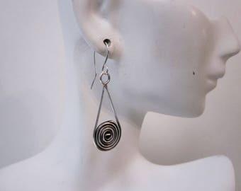 Bella's Dangle Spiral Earrings
