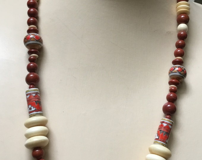Southwest Necklace in Reds