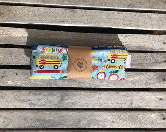 "10""x13"" Travel Wet Bag -Teacher-Optional Strap Available"