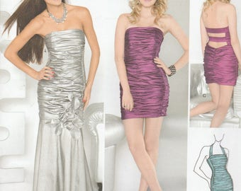 Simplicity 1907 Womens Prom Dress, Evening Gown or Bridesmaid Dress in 3 Variations Size 4,6,8,10,12 UNCUT