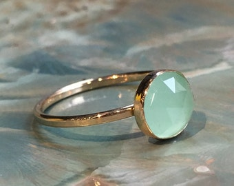 Jade ring, birthstone ring, Gold ring, Gold Filled ring, thin stacking ring, customised ring, dainty ring, simple stone ring - Thrill R2482