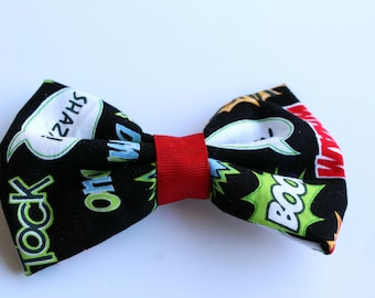 Sidekick Hair bow - Super Hero Hair Bow - Comic Book Phrases - Stocking Stuffer - Gifts Under 5 - Ready To Ship