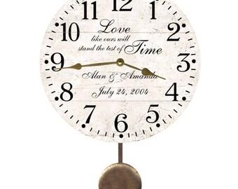 Personalized Test of Time Anniversary Clock- Pendulum Clock