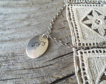 Upcycled Bracelet-Sterling Silver Abstract Charm Bracelet