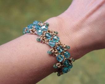 Boho Bracelet Tutorial, Beaded Jewelry Tutorial, Crochet With Beads, Crochet Bracelet, Step By Step Instructions, Easy Bracelet Pattern (41)