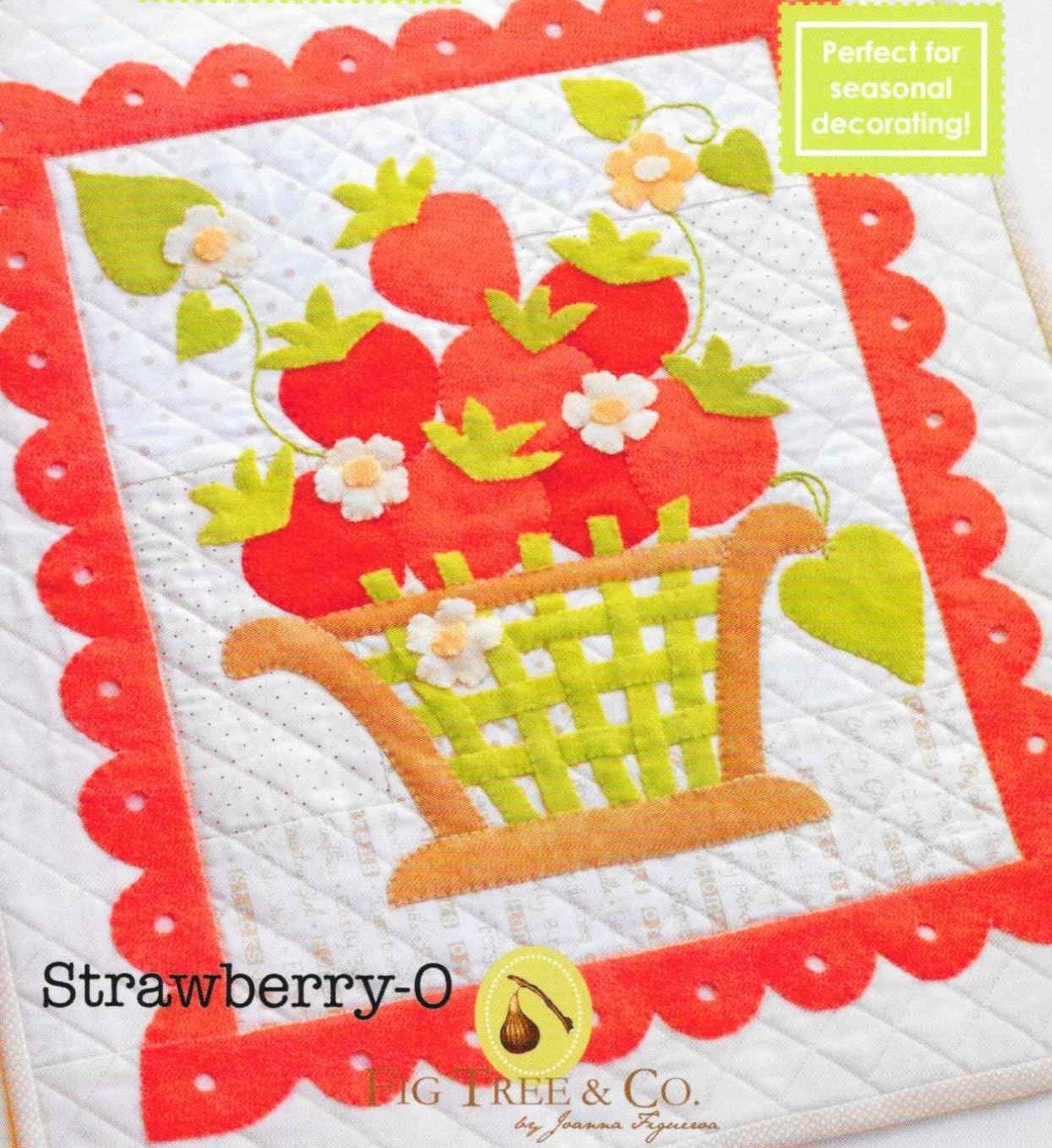 Wool Applique Pattern, Strawberry O, Spring Decor, Summer Decor ...
