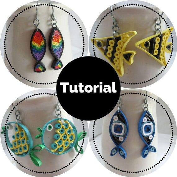 Fish Earrings DIY Tutorial for Paper Quilled Jewelry PDF