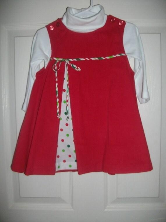 Christmas Dress, Girls Dress,Red Dress, Baby Dress, Holiday Outfit,Toddler Dress.Preteen Dress, Christmas Jumper, Free Monogramming