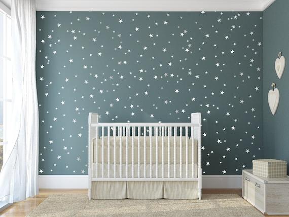 Silberne Wand sterne vinyl aufkleber 148 silbernen sternen wand
