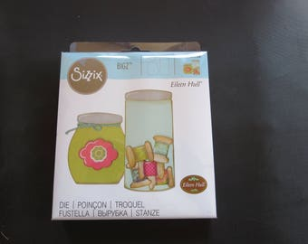 "Button Jars & Labels Die 660764 -Sizzix Bigz Die 5.5""X6"" Eileen Hull"