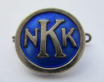 Vintage David Andersen Sterling Silver & Enamel Pin (NKK) Norsk Kennel Klub