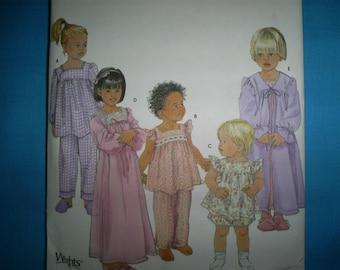 Simplicity 7027 Girls Pajamas. Size 7 8-10-12-14.