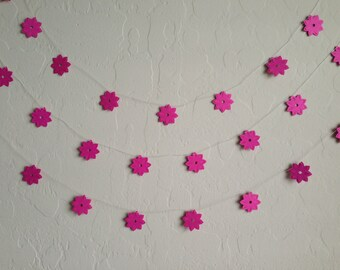 Pink Water Lilies Garland/Banner, Party Garland, Party Banner, Wedding Garland,Spring Garland