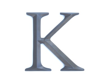 """Letter """"K"""" Sign - Large Letter K Wall Decor - Gallery Wall Decor - Photo Prop - Anniversary Gift SIK70"""