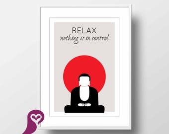 Relax Poster | Zen  | Yoga | Quote | Typography | Wall Art | Wall Decor | Home Decor | Prints | Poster | Digital Paper | Digital Download