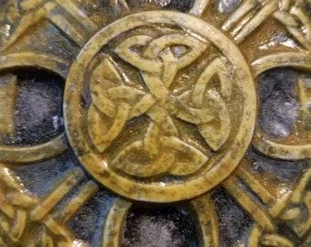 Irish/Scottish Dark Yellow Badge