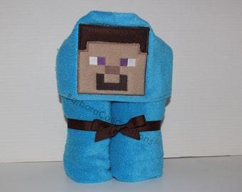 Hooded Bath Towel - 8-Bit Dude