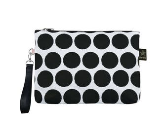 Diaper pouch,New collection Dots-Urban maternity purse,Printed pouch,Maternity pouch,Nappy wallet Zipper Pouch,Cosmetic Bag Holiday Gift