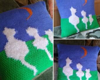 Handmade pillowcase Cat.