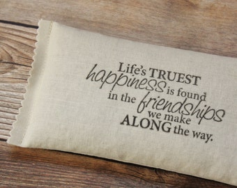 Unique Friendship Gifts for Women, Happiness Quote Lavender Sachet, Going Away Friend Gift
