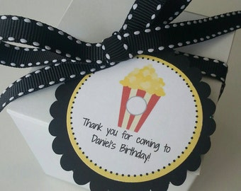 Movie Party Favor Tags Popcorn Birthday Party