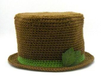 Instant Download - Crochet Pattern - Top Hat (Newborn to Adult)