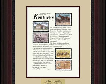 KENTUCKY 8262 - Personalized Framed Collectible (A Great Gift Idea)