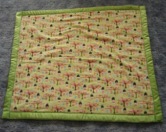 Oriental Garden Girl Baby Blanket