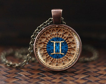zodiac pendant item swarovski necklace gemini crystal