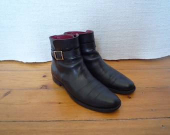 Burberry Leather Riding Jodhpur Boots