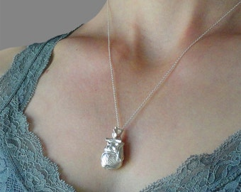 Anatomical Raw Silver Heart Pendant