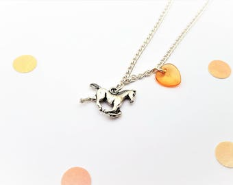 Horse Necklace, Pony Necklace, Horseriding Charm, Girls Horseriding Gift, Hobby Jewellery, Horse Charm, Gift For Horserider, Horse Owner