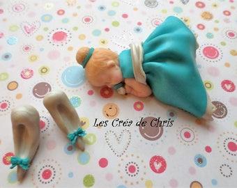polymer clay baby Princess Cinderella.