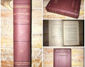Antique Victorian - Commentary on the Old Testament - The Apocryphal - 1889